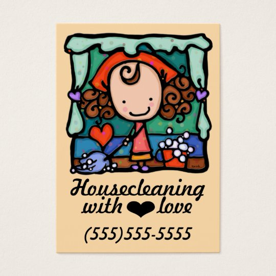 Housecleaning Office Cleaning promo card