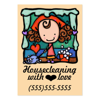 Housecleaning Office Cleaning promo card Large Business Card