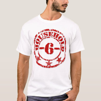 Household 6 Red T-Shirt