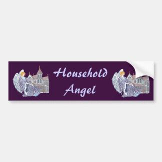 Household Angel Car Bumper Sticker