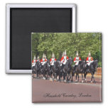 Household Cavalry London 2 Inch Square Magnet