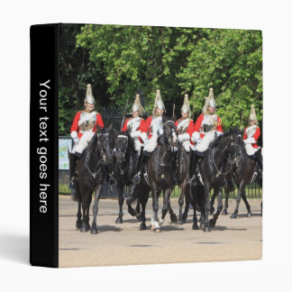 Household Cavalry soldiers London photo album 3 Ring Binder
