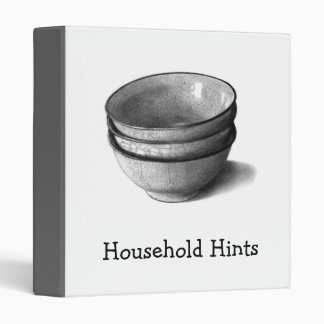 HOUSEHOLD HINTS BINDER: REALISM PENCIL ART BINDER