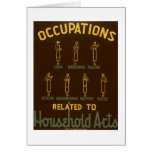 Household Occupations 1938 WPA Greeting Cards