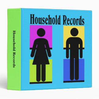 Household Records Organization Binder