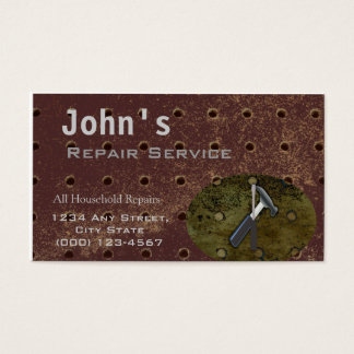 Household Repair Service- Tools Business Card