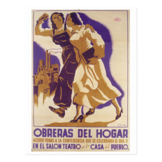 Household workers;  all of you_Propaganda Poster Postcard
