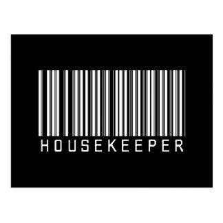 Housekeeper Bar Code Post Cards