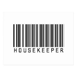 Housekeeper Bar Code Post Card