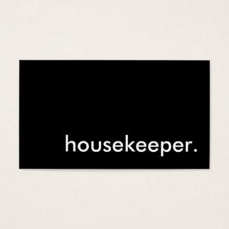 housekeeper. business card