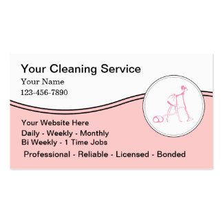 Housekeeper Business Cards