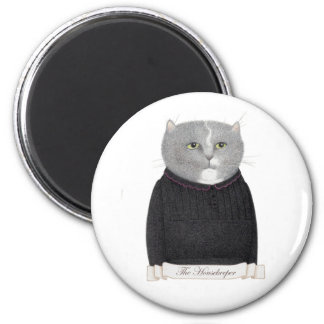 Housekeeper Cat Round Magnet