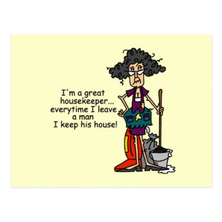 Housekeeper Humor Post Cards