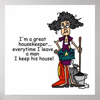 Housekeeper Humor Poster