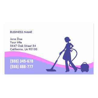 Housekeeper & Maid Business Card Template