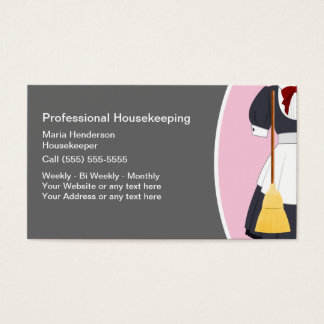 Housekeeper Maid Business Cards