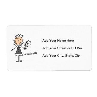 Housekeeper Stick Figure Label