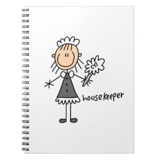Housekeeper Stick Figure Notebook