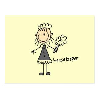Housekeeper Stick Figure Postcards