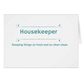 Housekeeper thank you card