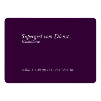 Housekeeper visiting cards rounded business card templates