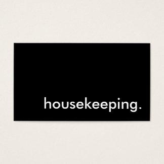 housekeeping. business card