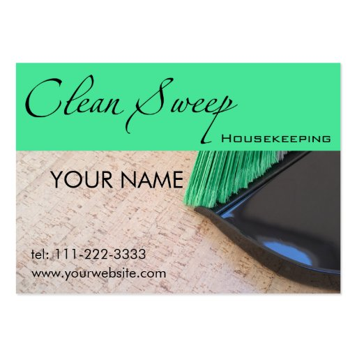 Housekeeping Business Cards Pack 100