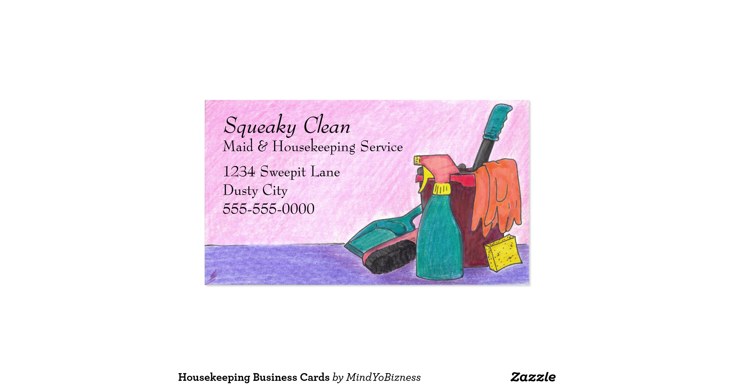 fresh stock of housekeeping business cards business cards