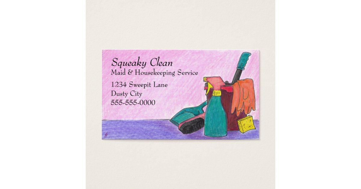 Housekeeping Business Cards | Zazzle.com