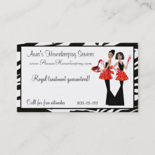 Housekeeping business cards templates zazzle housekeeping diva business cards colourmoves