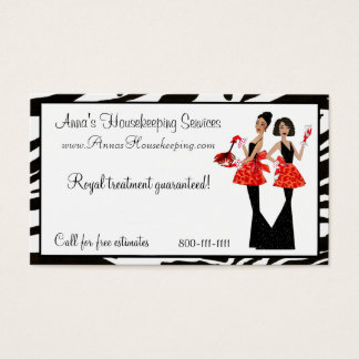 Housekeeping Diva Business Cards