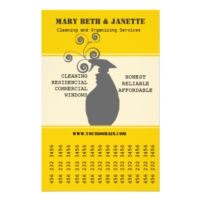 House Cleaning Marketing Flyer | Zazzle