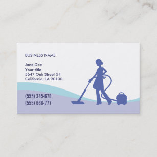 Housekeeping business cards templates zazzle housekeeping maid business card template colourmoves