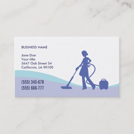 Housekeeping maid business card template zazzle housekeeping maid business card template reheart Image collections