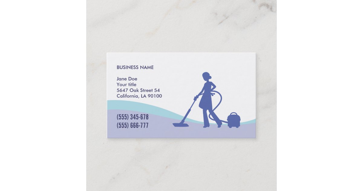 Housekeeping & Maid Business Card Template | Zazzle.com