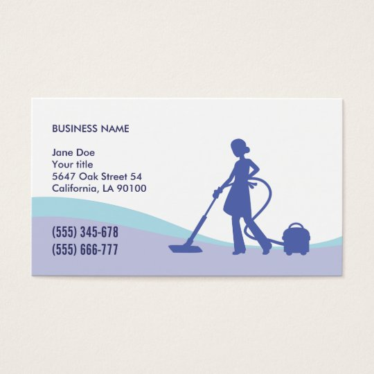 Housekeeping maid business card template zazzle housekeeping maid business card template wajeb Images