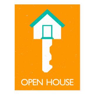 housekey de la casa abierta tarjeta postal