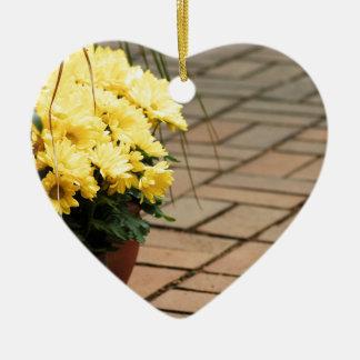houseplant adorno navideño de cerámica en forma de corazón