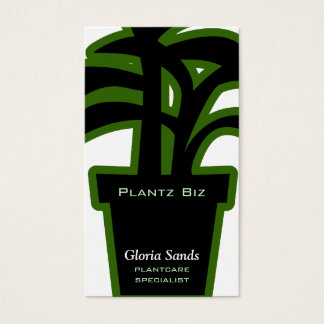 Houseplants Horticulture Green Business Card