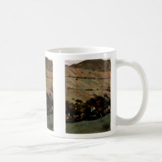 Houses Against The Mountainside By Schiele Egon Mugs