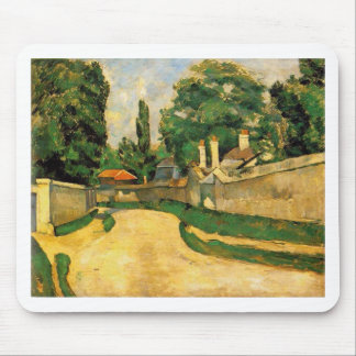 Houses Along a Road by Paul Cezanne Mouse Pad