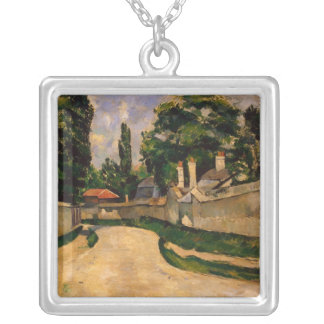 Houses Along a Road, c.1881 Silver Plated Necklace