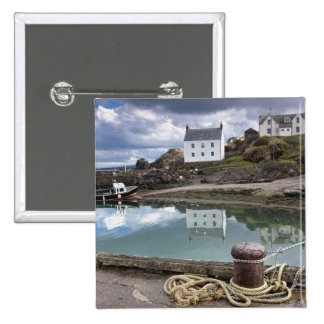 Houses And Boats Along The Water Button