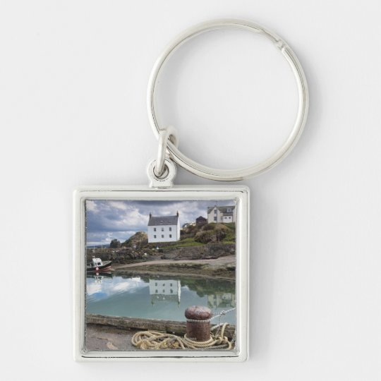 Houses And Boats Along The Water Keychain