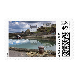 Houses And Boats Along The Water Stamps