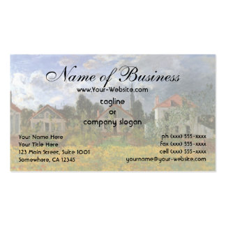 Houses at Argenteuil by Claude Monet Double-Sided Standard Business Cards (Pack Of 100)