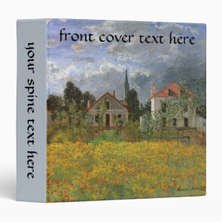 Houses at Argenteuil by Claude Monet, Vintage Art 3 Ring Binder