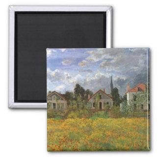 Houses at Argenteuil by Claude Monet, Vintage Art Magnet