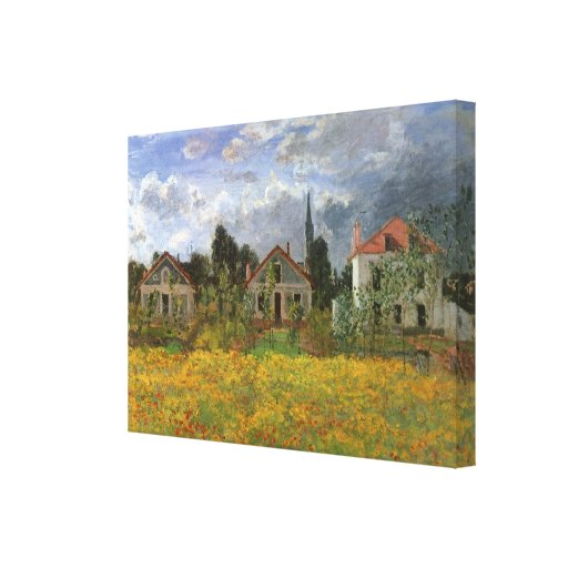 Houses at Argenteuil, Monet, Vintage Impressionism Gallery Wrapped Canvas