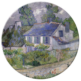 Houses at Auvers by Vincent Van Gogh Dinner Plate